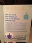 LRC Certificate klart!